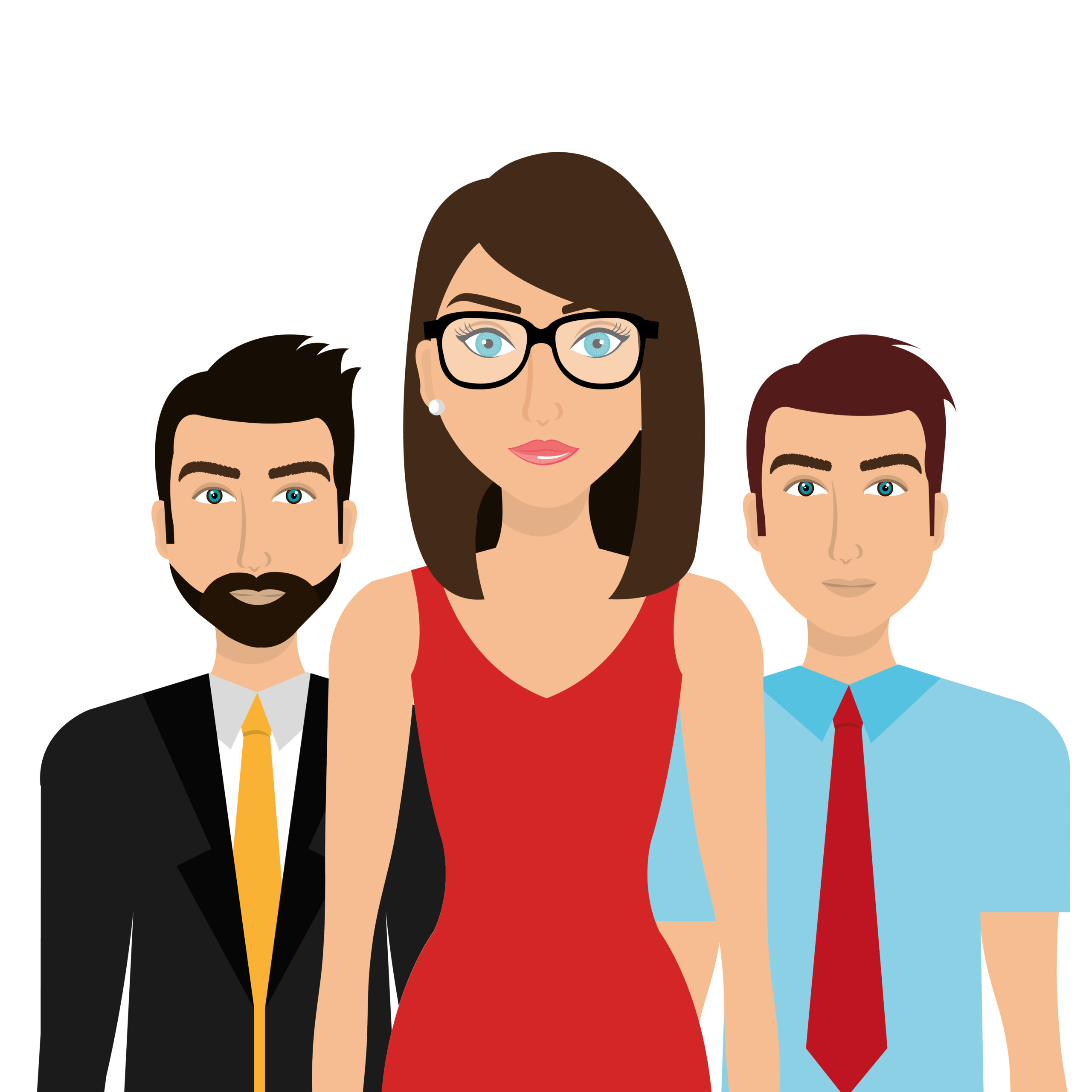 Business people and teamwork theme design, vector illustration