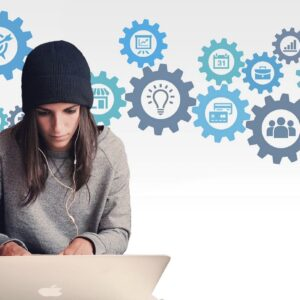 woman, entrepreneur, computer
